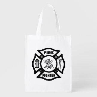 Firefighter Reusable Grocery Bag