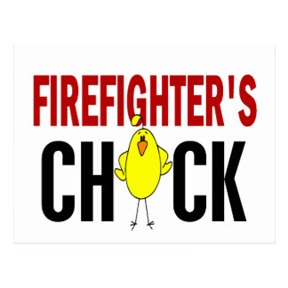 Firefighter's Chick Post Cards