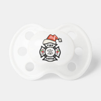Firefighter Santa Claus Baby Pacifier