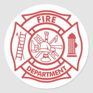 Firefighter Scramble Classic Round Sticker