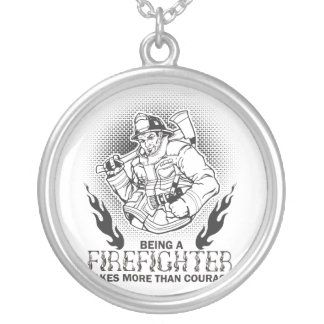 Firefighter Silver Plated Necklace