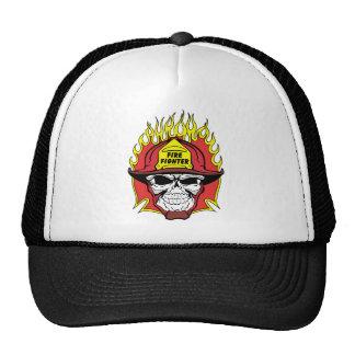 Firefighter Skull Mesh Hats
