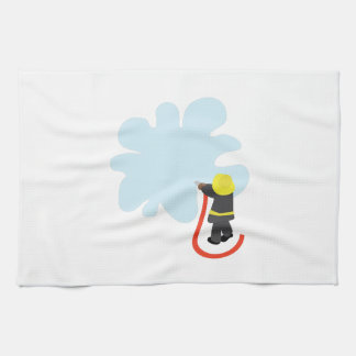 Firefighter Splash Kitchen Towel