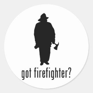 Firefighter Round Stickers