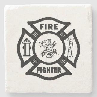 Firefighter Stone Beverage Coaster
