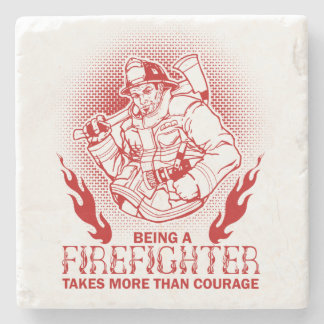 Firefighter Stone Coaster