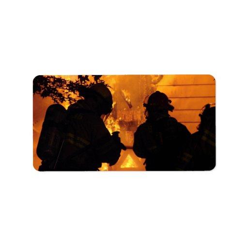 Firefighter Team Address Label