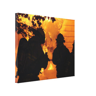 Firefighter Team Canvas Print