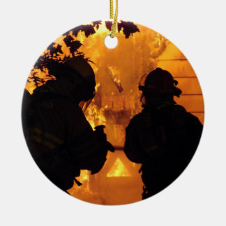 Firefighter Team Ceramic Ornament