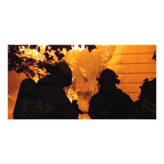 Firefighter Team Photo Greeting Card