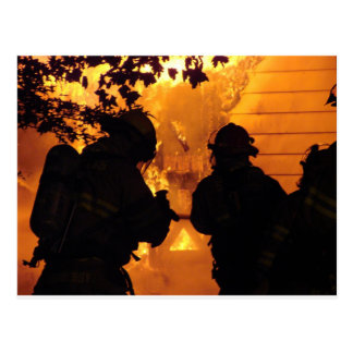 Firefighter Team Postcard