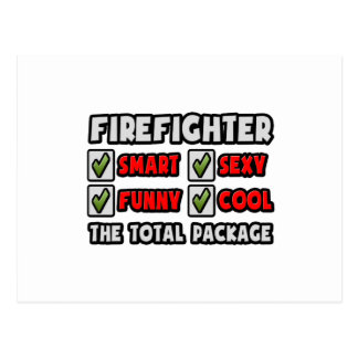 Firefighter ... The Total Package Postcard