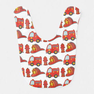 Firefighter Themed Pattern Bib
