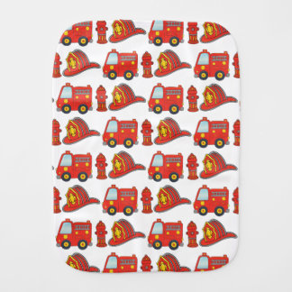 Firefighter Themed Pattern Burp Cloth