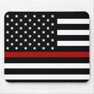 Firefighter Thin Red Line Flag Mouse Pad