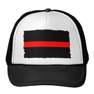 Firefighter Thin Red Line Trucker Hat
