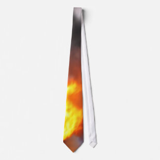 Firefighter Tie Blazing With Flames