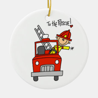 Firefighter to the Rescue T-shirts and Gifts Ceramic Ornament