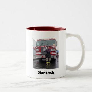 Firefighter Two-Tone Coffee Mug