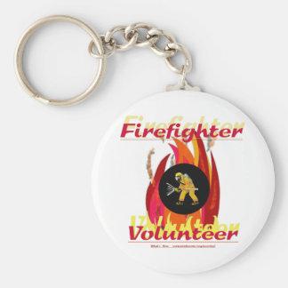 Firefighter Volunteer. Keychain