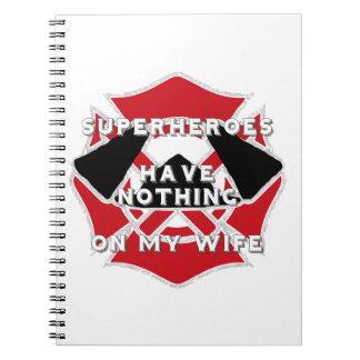 Firefighter wife journal spiral notebooks