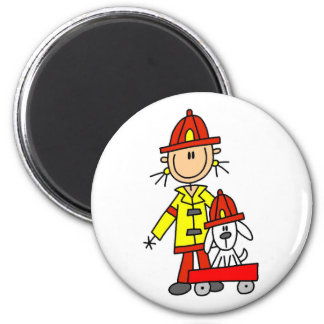 Firefighter with Dalmation Tshirts and Gifts Magnet
