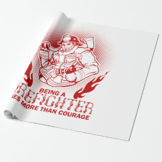 Firefighter Wrapping Paper
