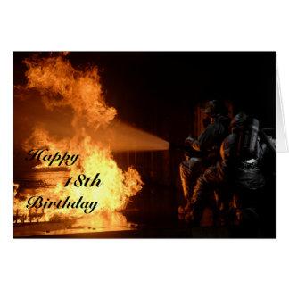 Firefighter's 18th Birthday Card
