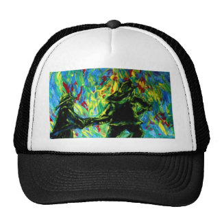 Firefighters Abstract Art Painting Trucker Hat