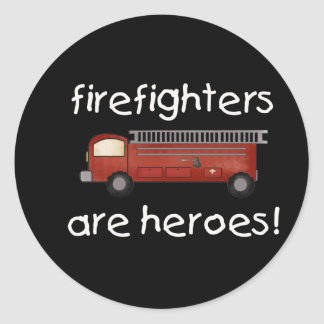 Firefighters Are Heroes Classic Round Sticker