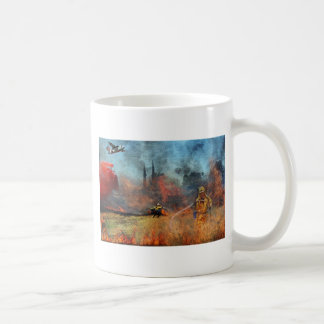 Firefighters are our true heroes coffee mug