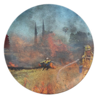 Firefighters are our true heroes dinner plate