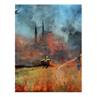 Firefighters are our true heroes postcard