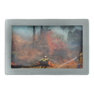Firefighters are our true heroes rectangular belt buckles