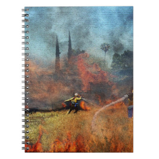Firefighters are our true heroes spiral notebook