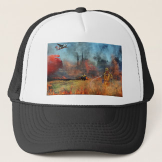 Firefighters are our true heroes trucker hat