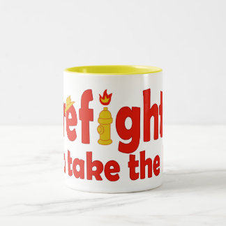 Firefighters Can Take the Heat Two-Tone Mug