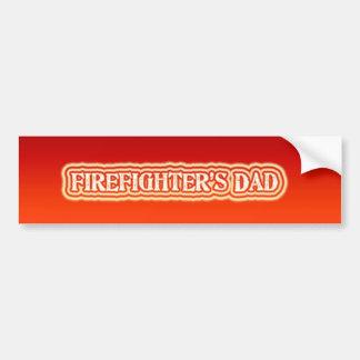 Firefighter's Dad Bumper Sticker