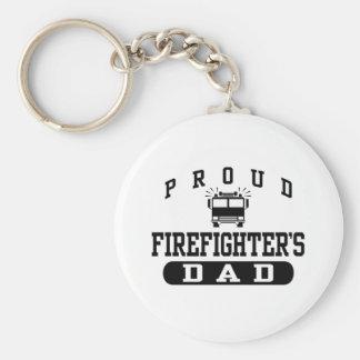 Firefighter's Dad Keychain