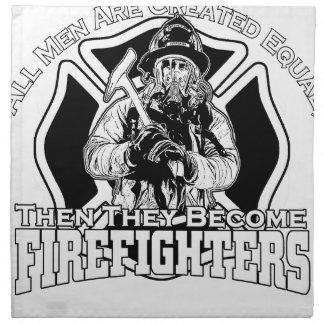 Firefighters design napkin