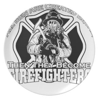 Firefighters design plate