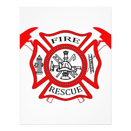 firefighters fire dept logo gifts letterhead template zazzle
