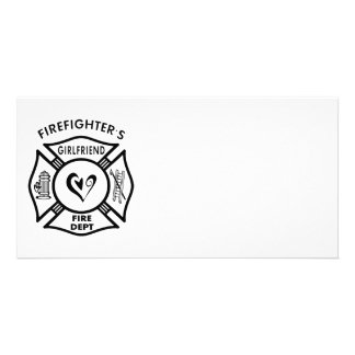 Firefighter's Girlfriend Personalized Photo Card