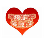 Firefighter's Girlfriend Postcard