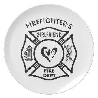 Firefighters Girlfriends Dinner Plate