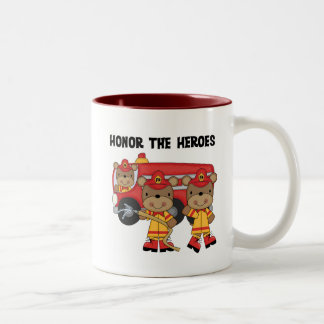 Firefighters Honor the Heroes Tshirts and Gifts Two-Tone Coffee Mug