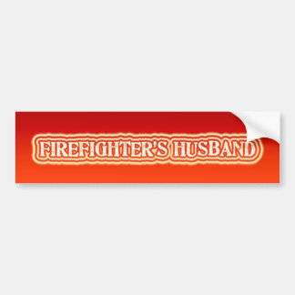 Firefighter's Husband Bumper Sticker