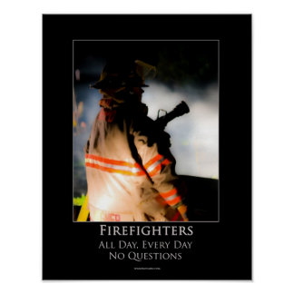 Firefighters Motivational Poster