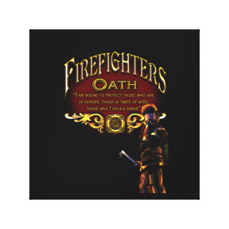 Firefighters Oath Canvas Print