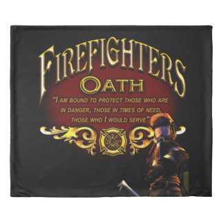 Firefighters Oath Duvet Cover